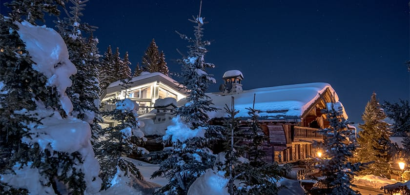 Courchevel Chalets At Night.jpg